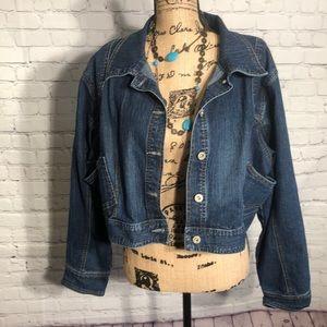 Ashley Stewart cropped jean jacket size 16w